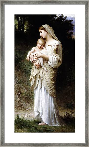 L'innocence By Bouguereau Framed Print