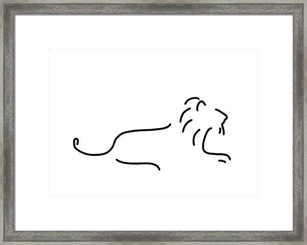 Lion Mane Framed Print