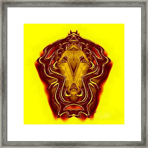 Lion Tall Framed Print