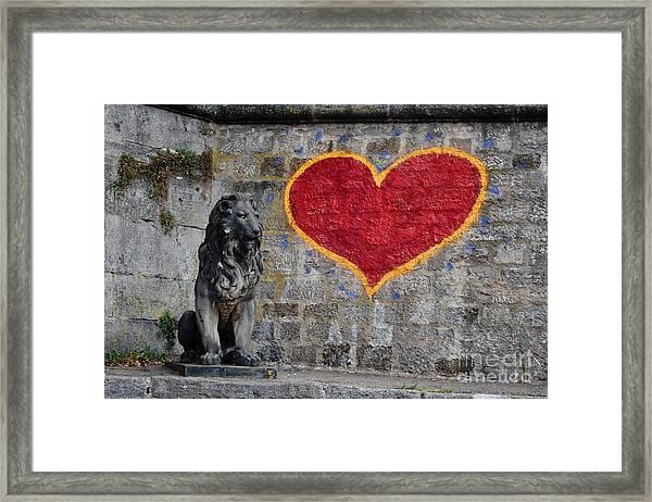 Lionheart Framed Print