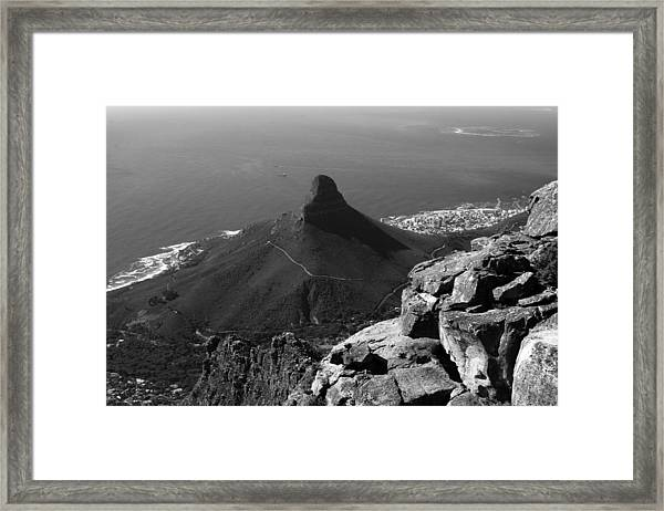 Lions Head - Cape Town - South Africa Framed Print