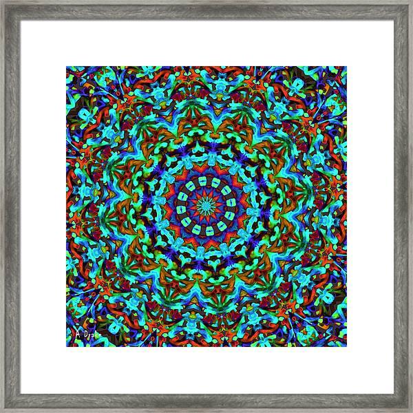 Liquid Dream Kaleidoscope Framed Print