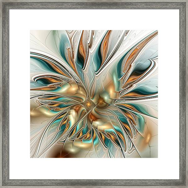 Liquid Flame Framed Print