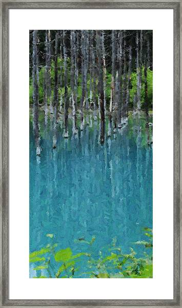 Liquid Forest Framed Print