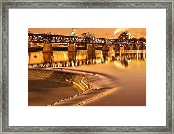 Liquid Gold - Former Tulsa Pedestrian Bridge  Framed Print