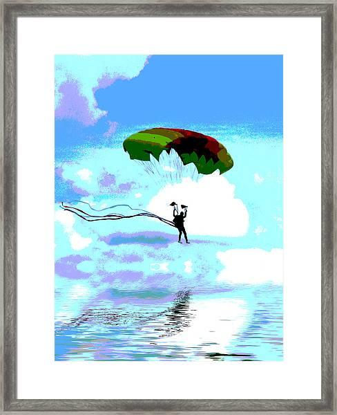 Liquid Landing Framed Print
