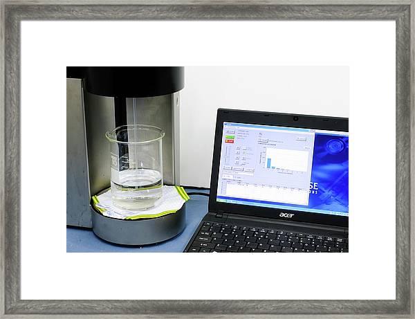 Liquid Sampler In Lab Framed Print