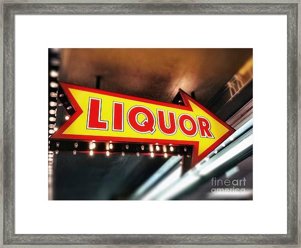 Liquor Store Sign Framed Print