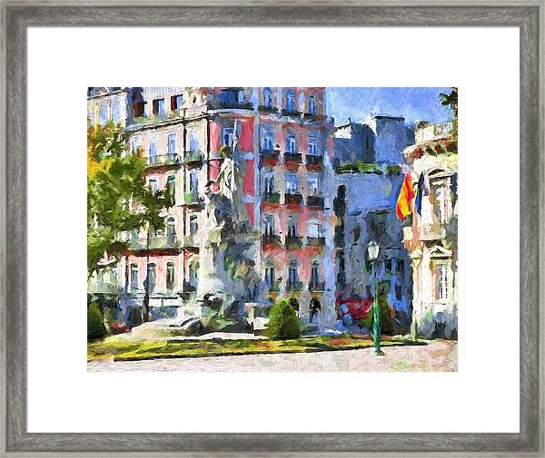 Lisbon Streets Framed Print by Yury Malkov