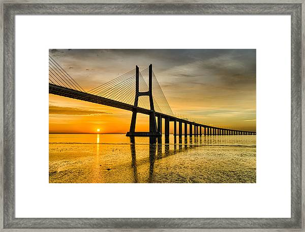 Lisbon Sunrise Framed Print
