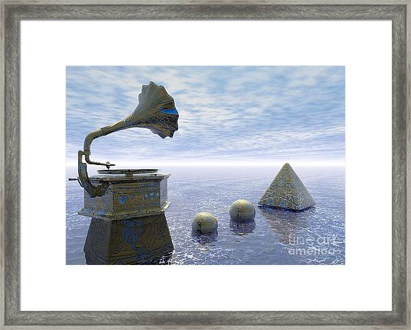 Listen - Surrealism Framed Print