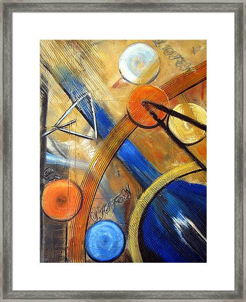 Listen To The Music Framed Print