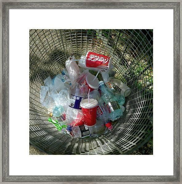 Litter Bin Framed Print by Robert Brook/science Photo Library