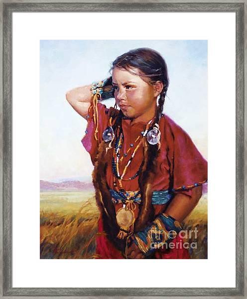 Little American Beauty II Framed Print