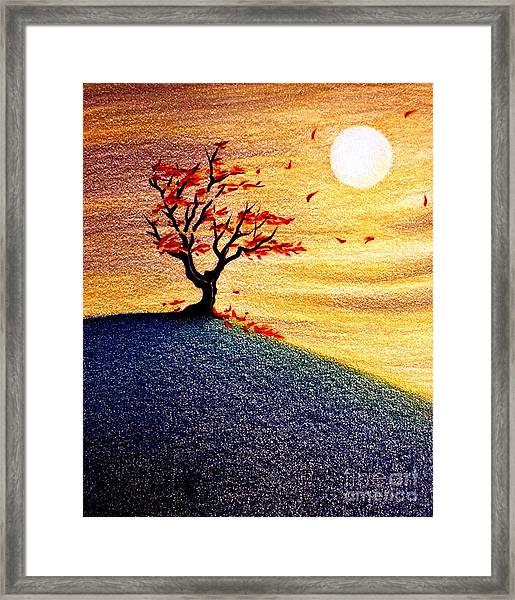 Little Autumn Tree Framed Print
