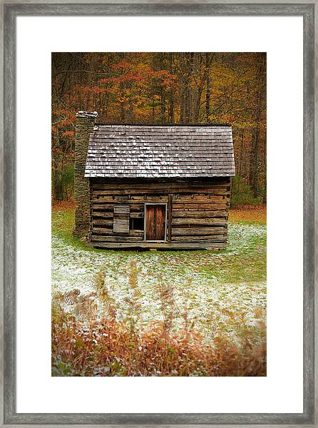 Little Cabin Framed Print