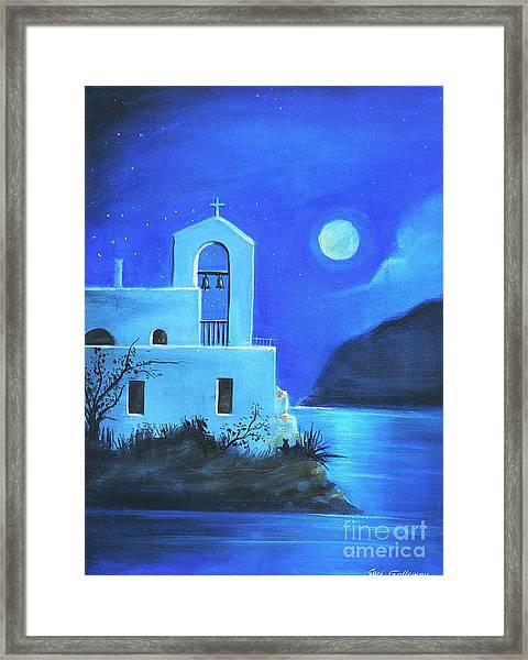 Little Church By The Sea Framed Print