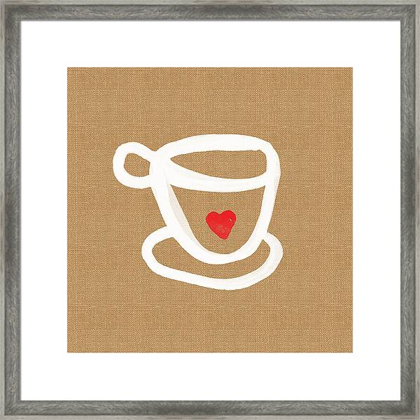 Little Cup Of Love Framed Print