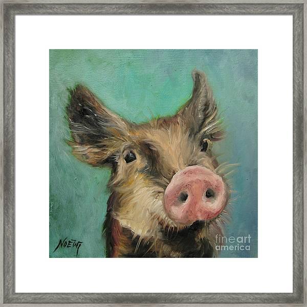 Little Piglet Framed Print