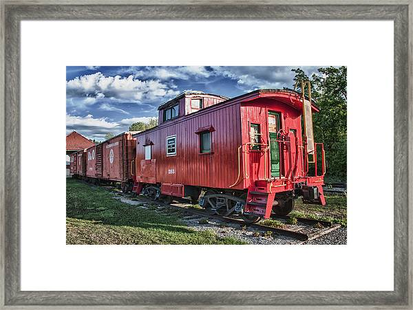 Little Red Caboose Framed Print