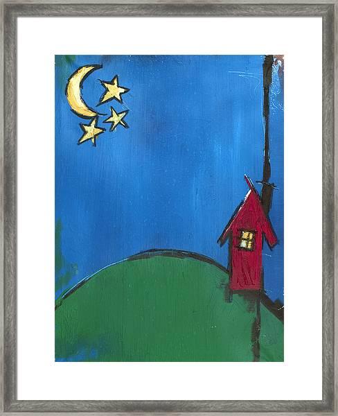 Little Red House Framed Print