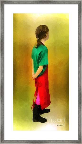 Little Shopgirl Framed Print