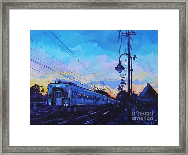 Little Silver Sunset Framed Print