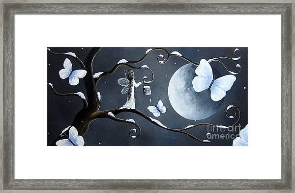 Little Snow Fairy By Shawna Erback Framed Print by Erback Art