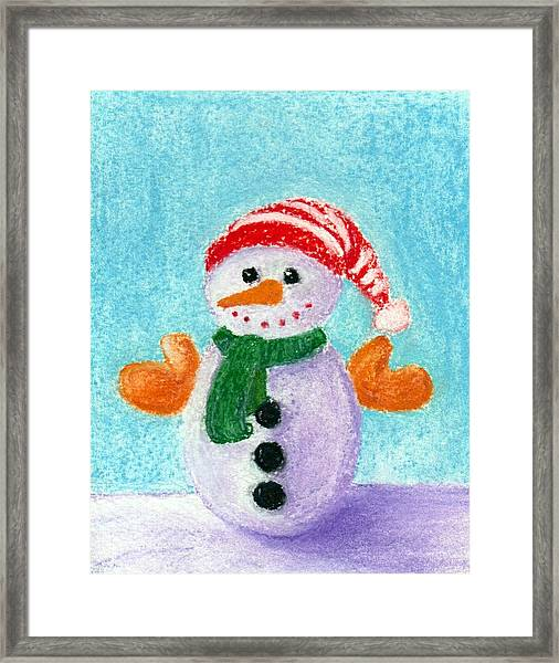 Little Snowman Framed Print