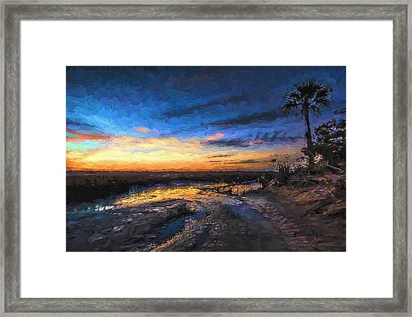 Little Talbot Sunset   Framed Print