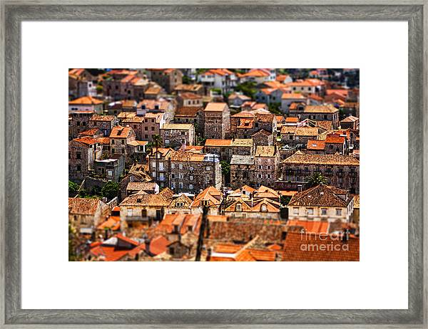Little Village Framed Print