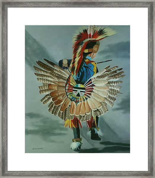Little Warrior Framed Print