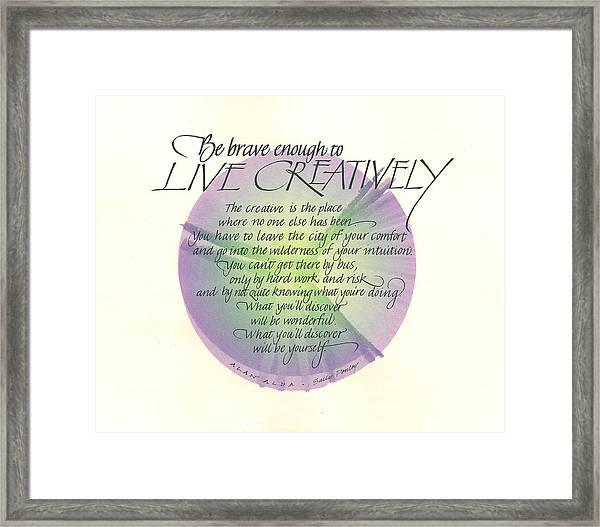 Live Creatively Framed Print