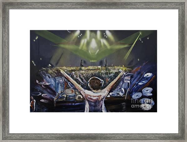 Live Dj Framed Print
