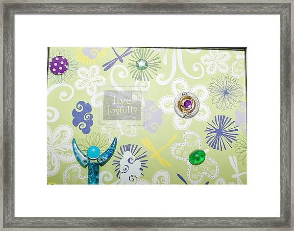 Live Joyfully Framed Print