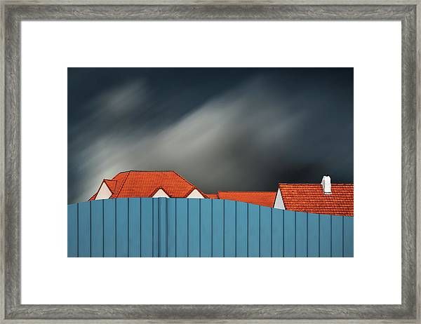 Living Behind The Fence Framed Print by Gilbert Claes