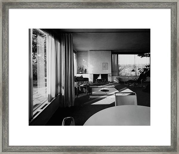 Living Room In Mr. And Mrs. Walter Gropius' House Framed Print