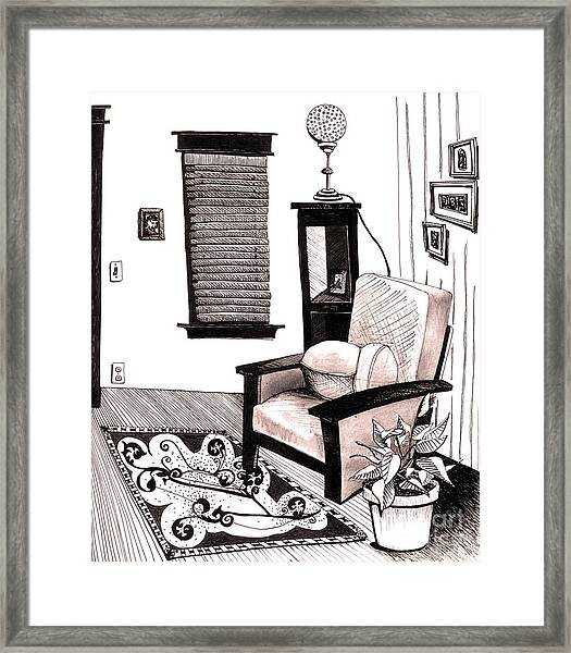 Living Room Framed Print by Michele Fritz