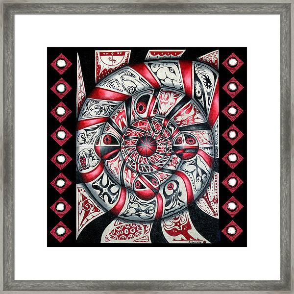 Living Spiral Framed Print