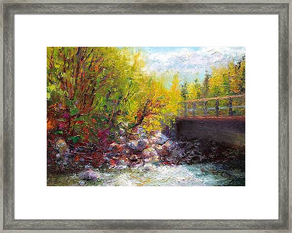 Living Water - Bridge Over Little Su River Framed Print