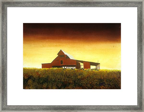 Livingston Co. Red Framed Print