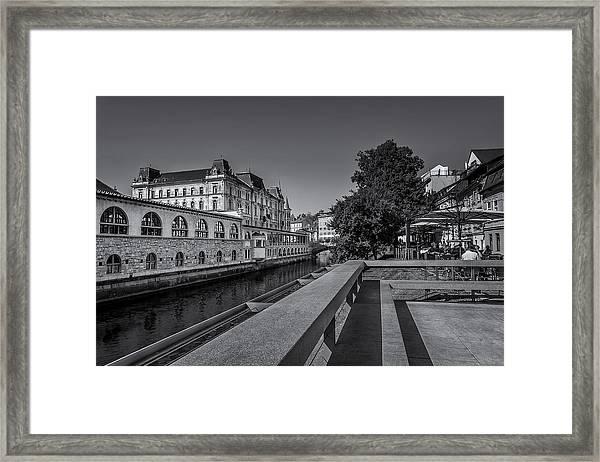 Ljubljana - Central Market Framed Print