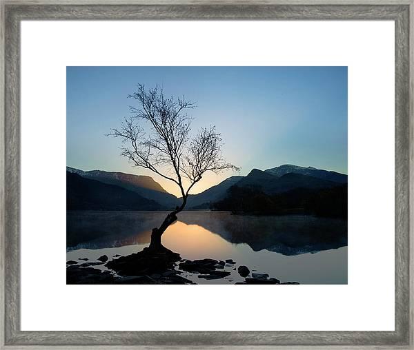 Llyn Padarn And Snowdon Framed Print