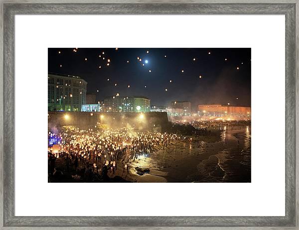 Lnterns Illuminating Galicia Framed Print