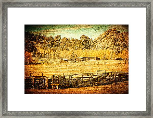 Loading Chutes At The Old Ranch Framed Print