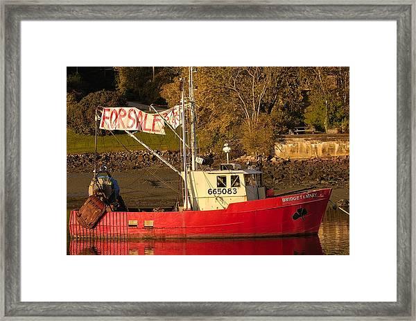 Lobster Boat For Sale Framed Print
