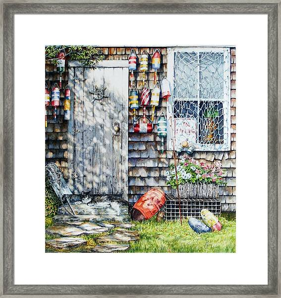 Lobster Cove Framed Print