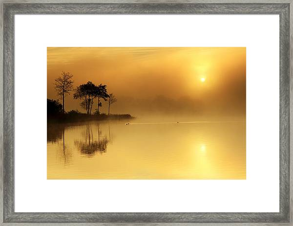 Loch Ard Morning Glow Framed Print
