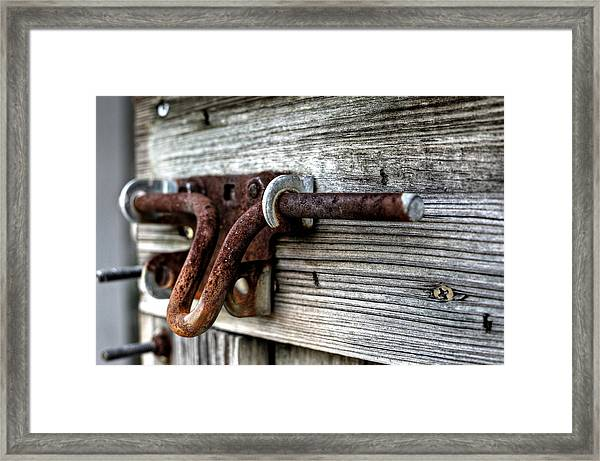 Lock Framed Print