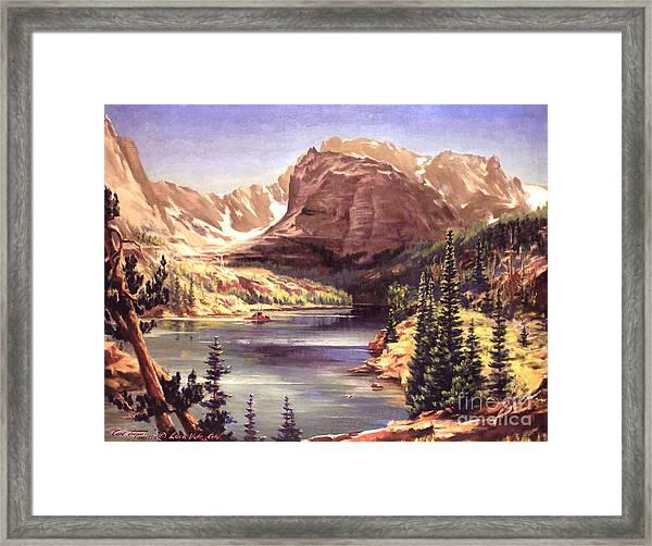 Lock Vale - Colorado Framed Print